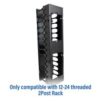 Rack Solutions Medium Density Vertical Cable Duct- Rear View