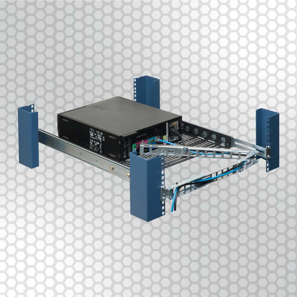 Cable management arms are essential for quick deployment on a sliding shelf or rail