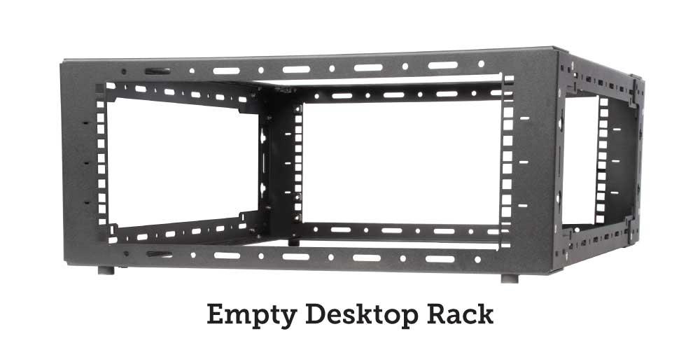 Empty desktop rack