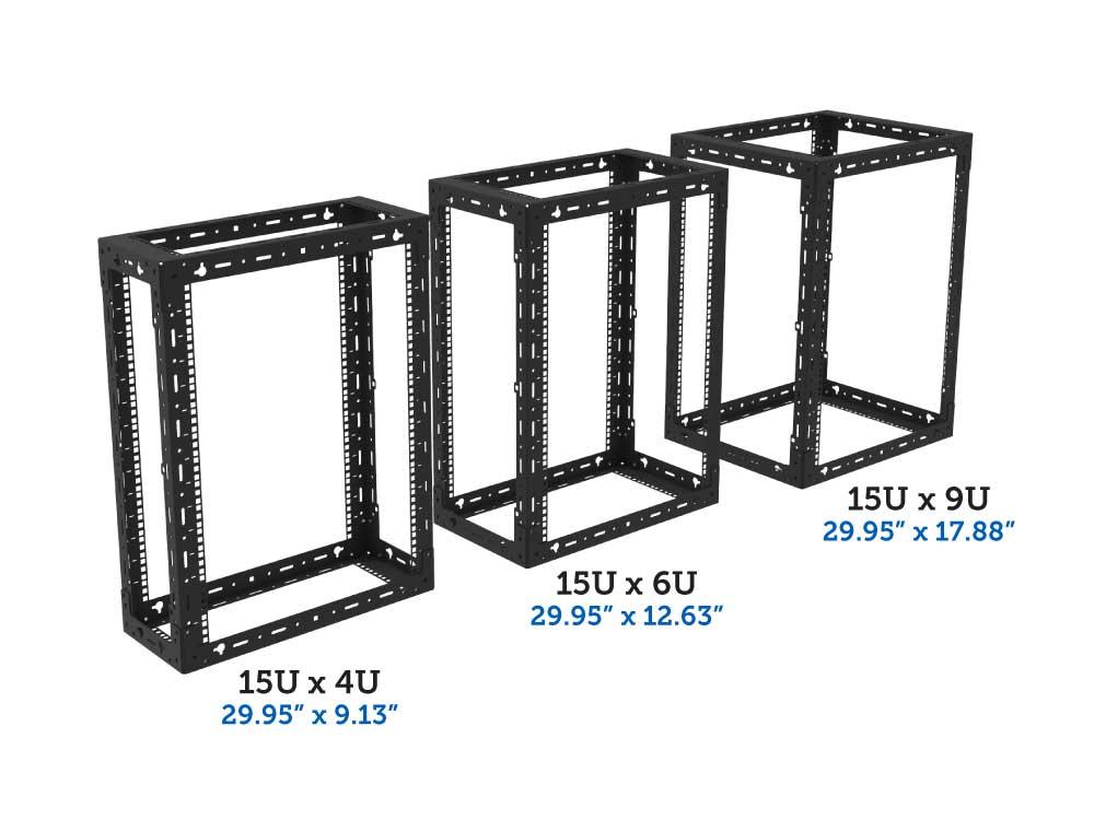 15U x 4u, 6u, 9u wall mount rack