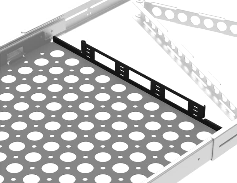 1U Cantilever 2 Post Rack Shelf Feaures